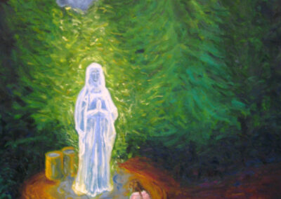 Woman Kneeling for Holy Virgin Mary