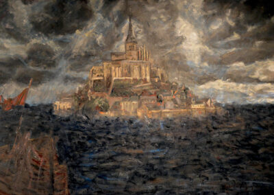 St. Joan of Arc approaching Le Mont St. Michel