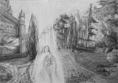 Therese at the Basilica