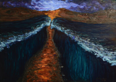 Moses walking through the Red Sea_2