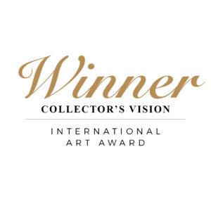 Collectors vision International Art Awar badge