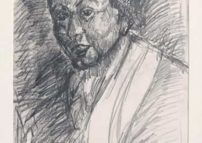 Drawing after Rembrandt (Selfportrait as Zeuxis Laughing)
